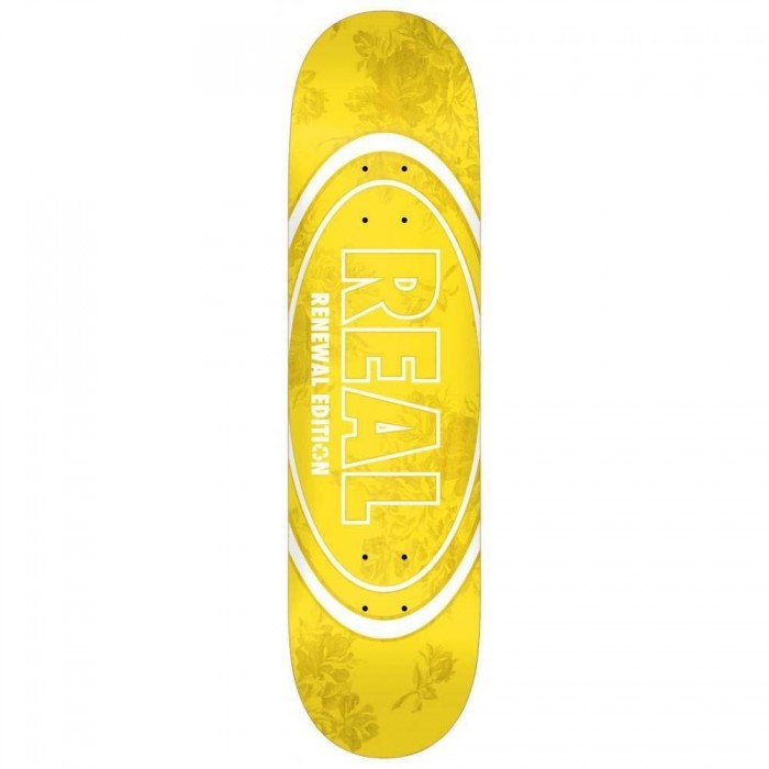 Real Floral Renewal Skateboard Deck Yellow 7.75""