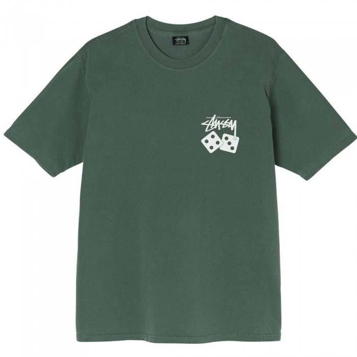 Stussy Dice Pigment Dyed T-Shirt Pine