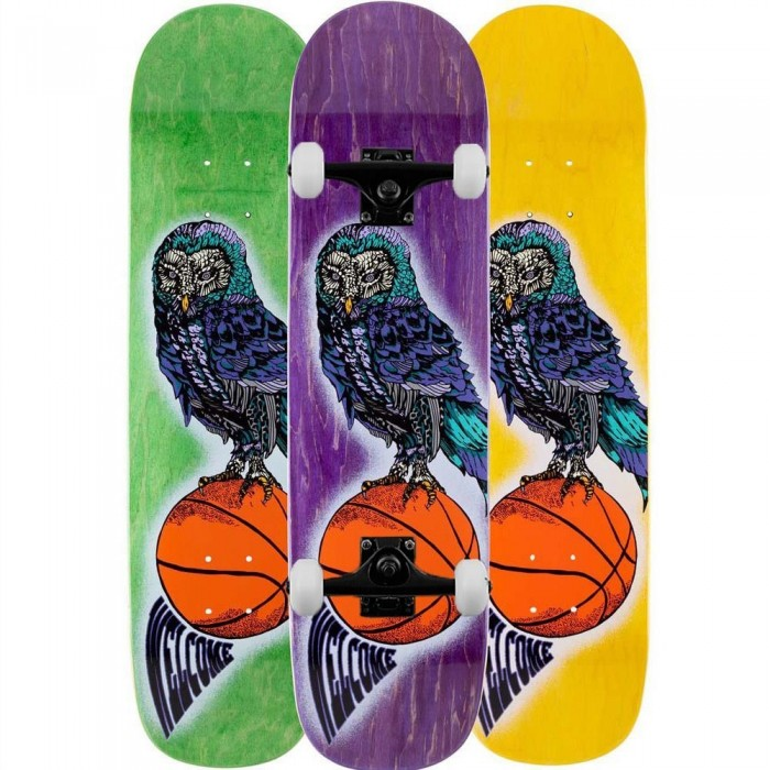 """Welcome Hooter Shooter Complete Skateboard Bunyip Multi 8"""""""