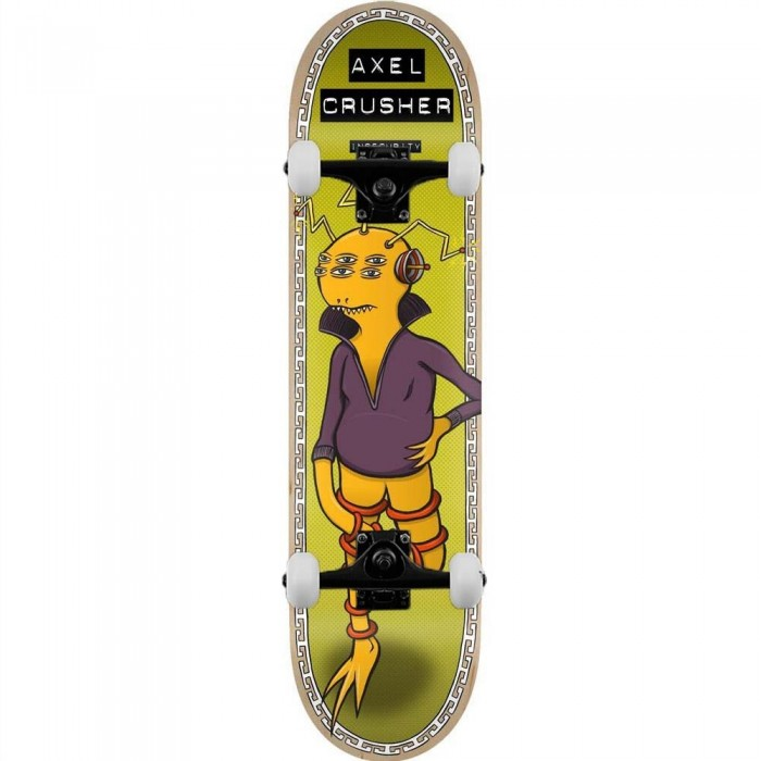 """Toy Machine Axle Insecurity Complete Skateboard Green 8.5"""""""