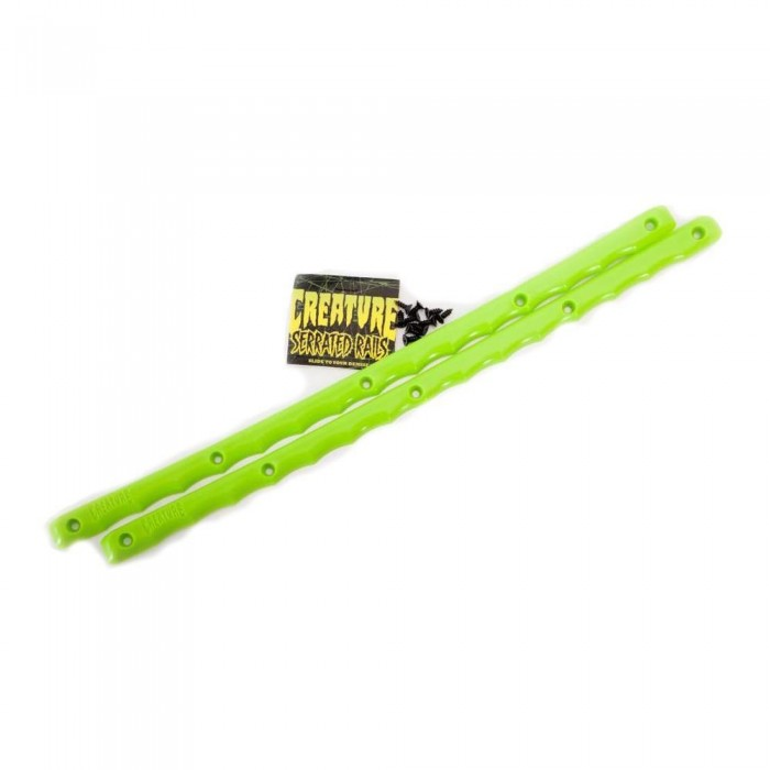 Creature Serrated Skateboard Rails Green