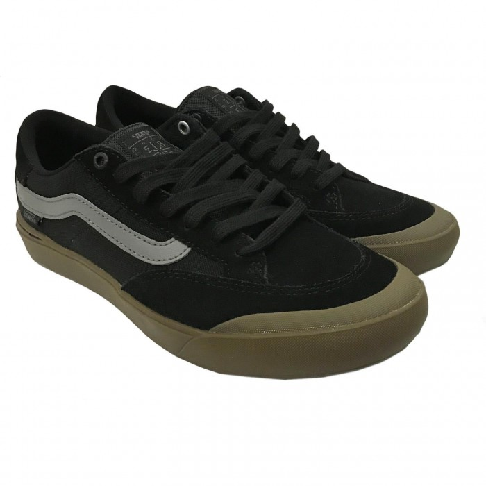 Vans Berle Pro Black Dark Gum Skate Shoes