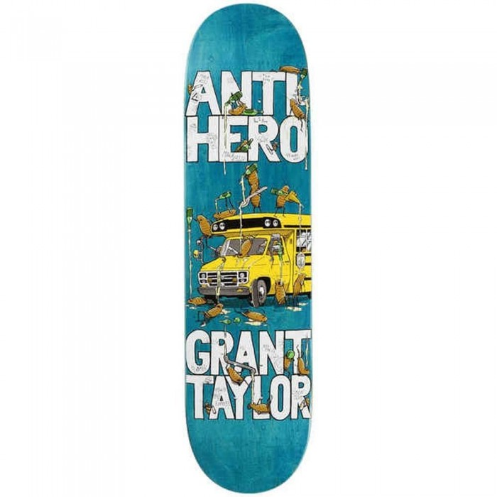 Anti Hero Taylor Maka Bus Skateboard Deck Wood Stains White 8.06""