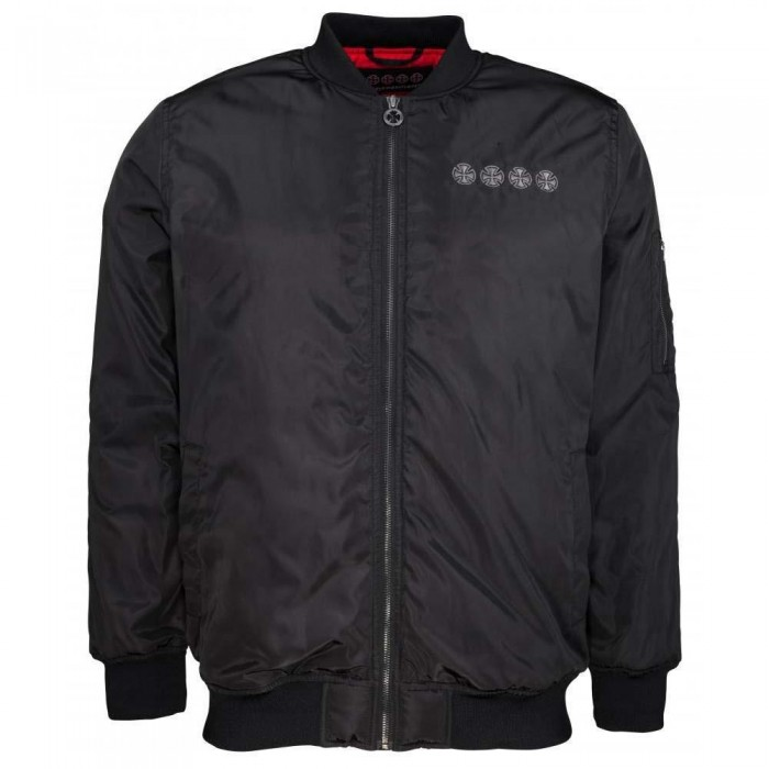 Independent Truck Co Chain Cross Bomber Jacket Black