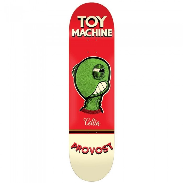 Toy Machine Provost Pen N Ink Skateboard Deck Red 8""