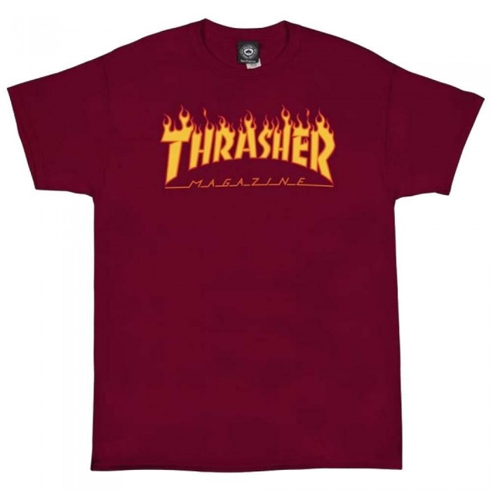 Thrasher Mag Flame Logo T-Shirt Cardinal Red