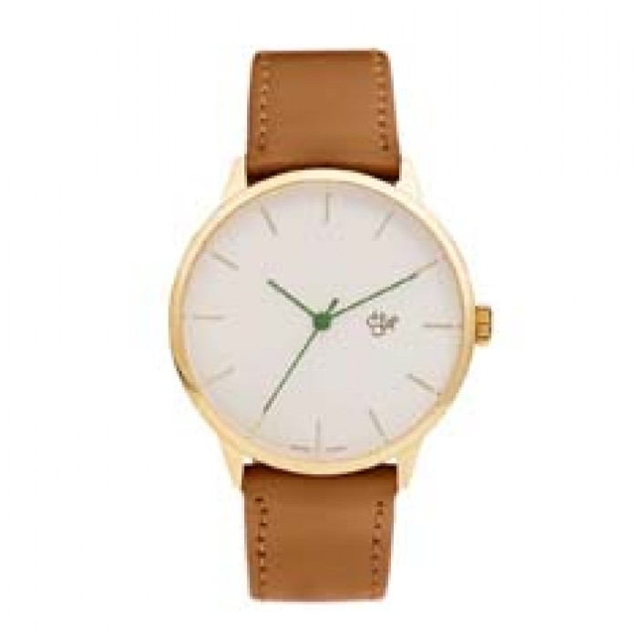 Cheapo Brand Watches Nawroz Gold Brown Vegan Leather