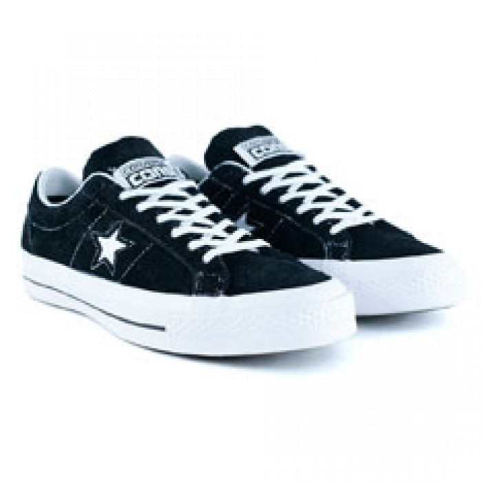 Converse One Star Black White Skate Shoes