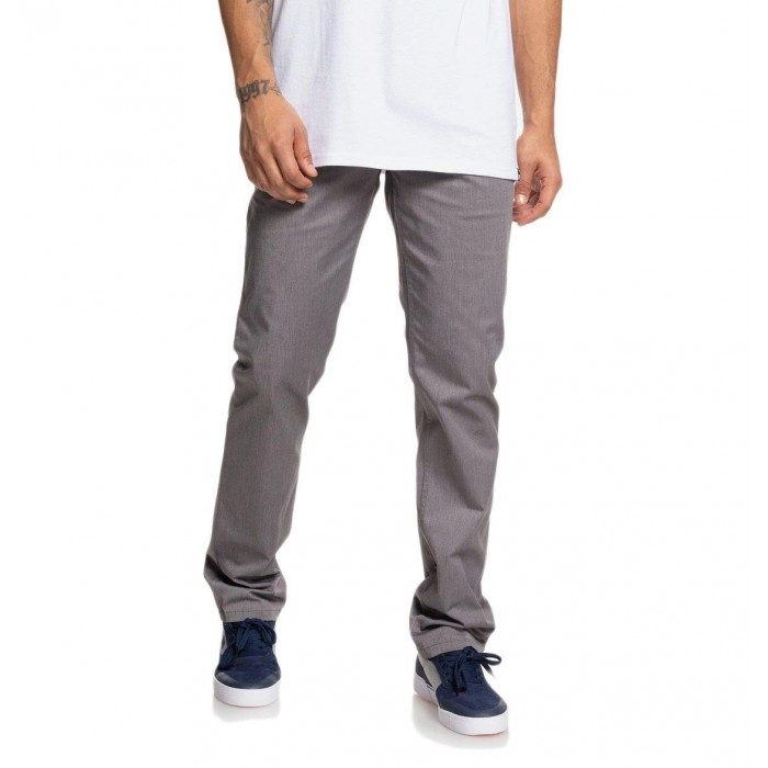 DC Shoes Worker Straight Fit Chino Pants Charcoal Grey