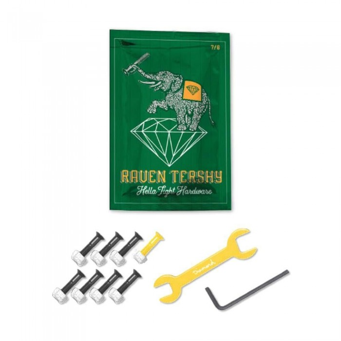 Diamond Supply Co. Raven Tershy Hardware Yellow 7/8 Skateboard Bolts