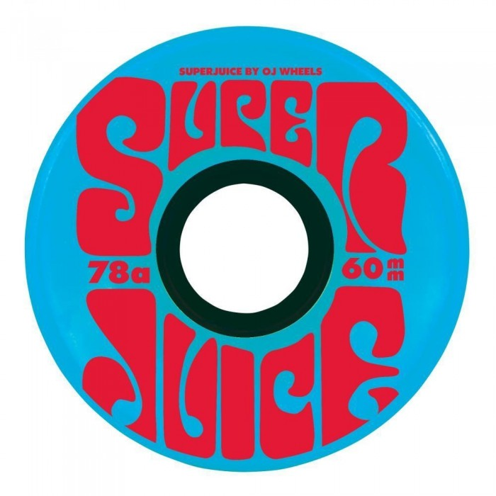 OJ Soft Skateboard Wheels Super Juice 78a Blue 60mm