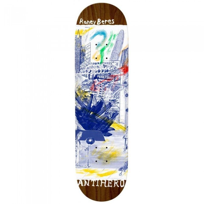 """Anti Hero Beres Sf Then And Now Skateboard Deck Multi 8.12"""""""