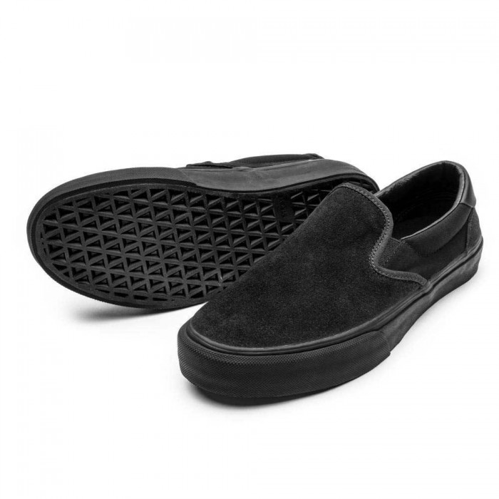 Straye Footwear Ventura Suede Black Black  Skate Shoes