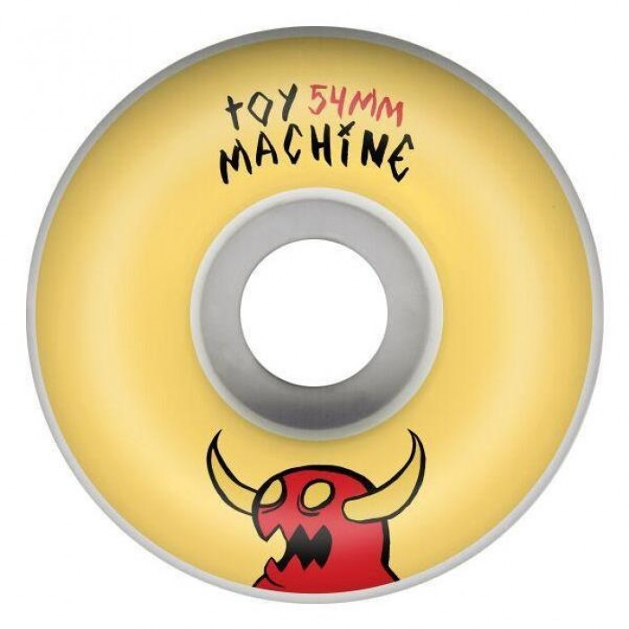 Toy Machine Sketchy Monster Skateboard Wheels 100a White Yellow 54mm