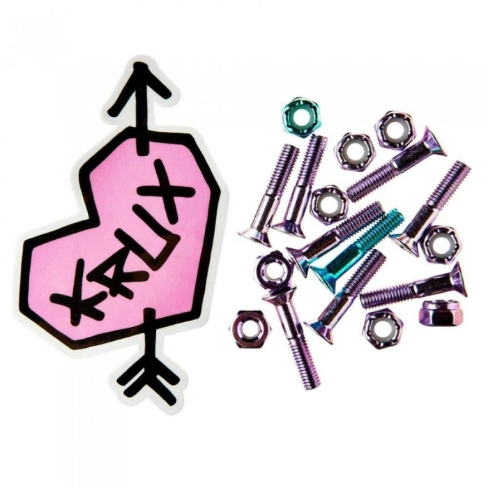 Krux Krome Skateboard Bolts Phillips Hardware Lavendar/Blue 1""