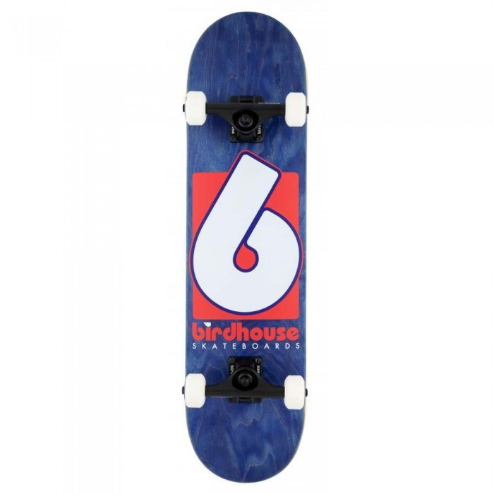 """Birdhouse B Logo Stage 3 Factory Complete Skateboard Navy Red 7.75"""""""