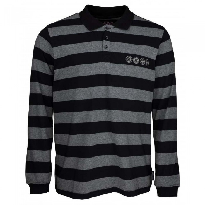 Independent Truck Co Chain Cross Rugby Shirt Black Stripe