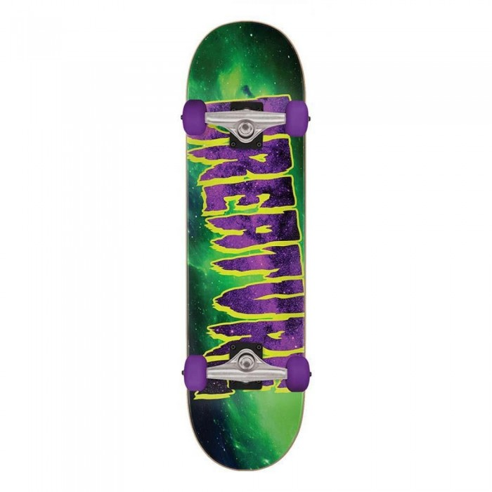 Creature Galaxy Logo Mid Factory Complete Skateboard Green Purple 7.80""