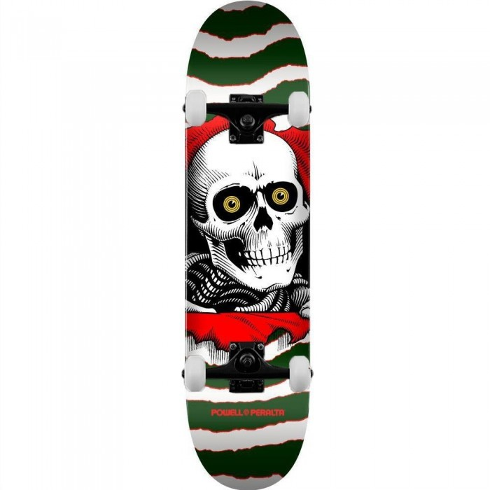 """Powell Peralta PP Deck Ripper One Off Shape 23 Green Complete Skateboard 7"""""""