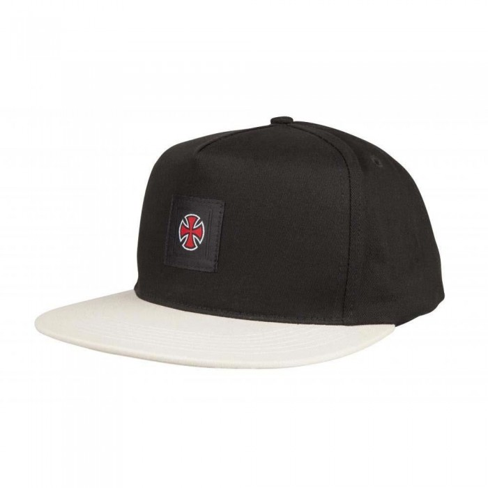 Independent Truck Co Hachure Snapback Hat Black Athletic Heather
