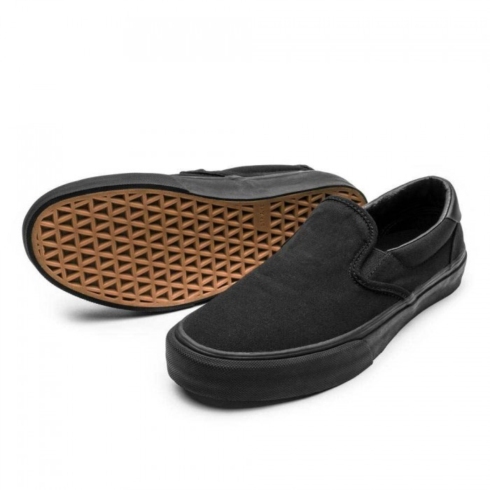 Straye Footwear Ventura Canvas Black Black Skate Shoes