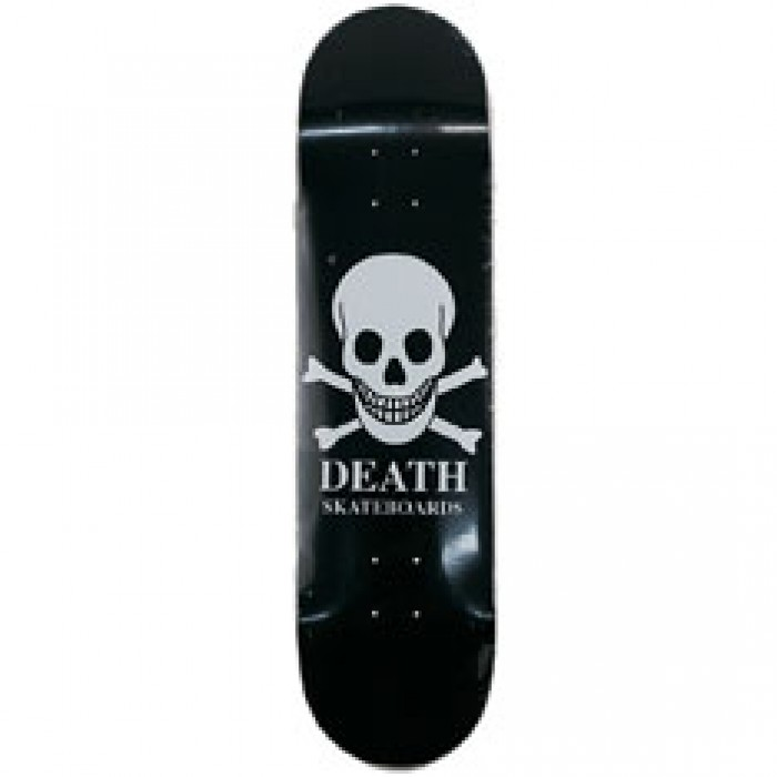 Death Black Skull Skateboard Deck 8""