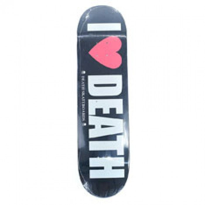 Death Skateboards I Heart Death Skateboard Deck Black 8.4""