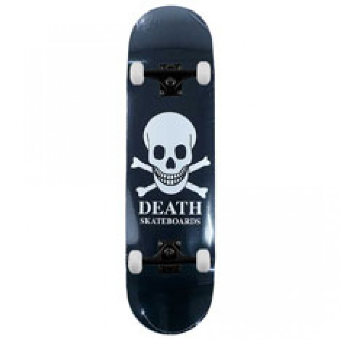 Death Skateboards OG Black Skull Complete Skateboard 8.5""