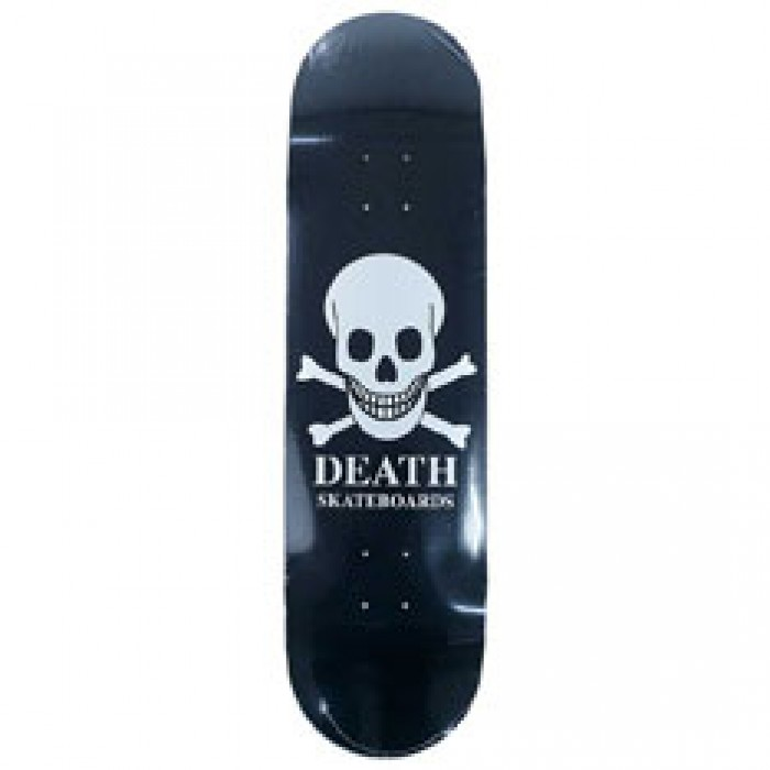 Death Skateboards OG Black Skull Skateboard Deck 8.5""