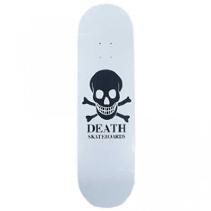 Death Skateboards OG White Skull Skateboard Deck 8.75""