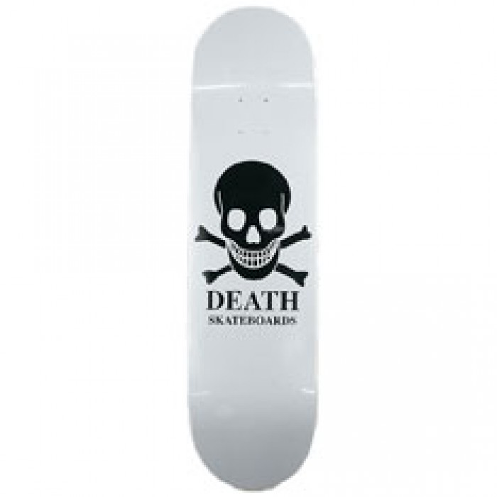 Death White Skull Skateboard Deck 8.0""