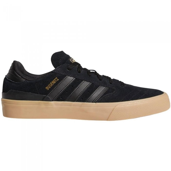 Adidas Skateboarding Busenitz Vulc II Core Black Gum Skate Shoes