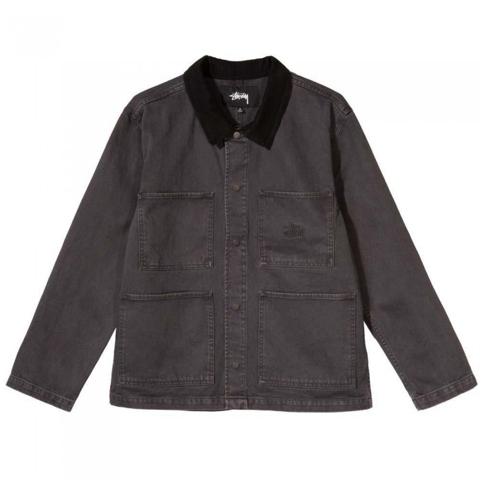 Stussy Washed Canvas Work Shirt Black