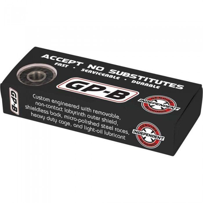 Indy Skateboard Bearings Genuine Parts Bearing GP-B Black 8mm