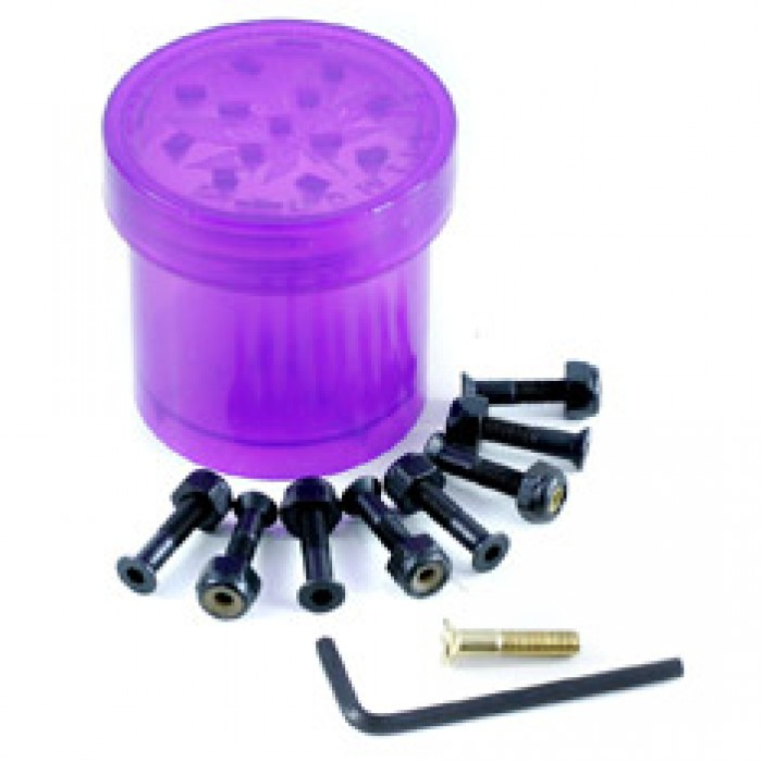 Diamond Supply Co Hella Tight Pudwill Skateboard Bolts With Grinder Purple 7/8