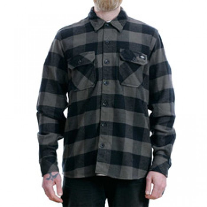 Dickies Sacramento Flannel Shirt Gravel Grey