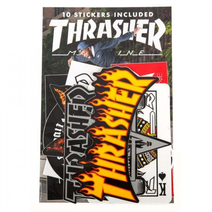 Thrasher Magazine Sticker Pack Assorted 10 Pack Various