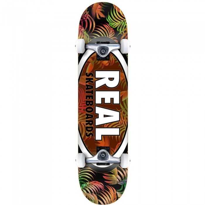 Real Team Tropic Ovals 2 Md Factory Complete Skateboard Multi 7.75""