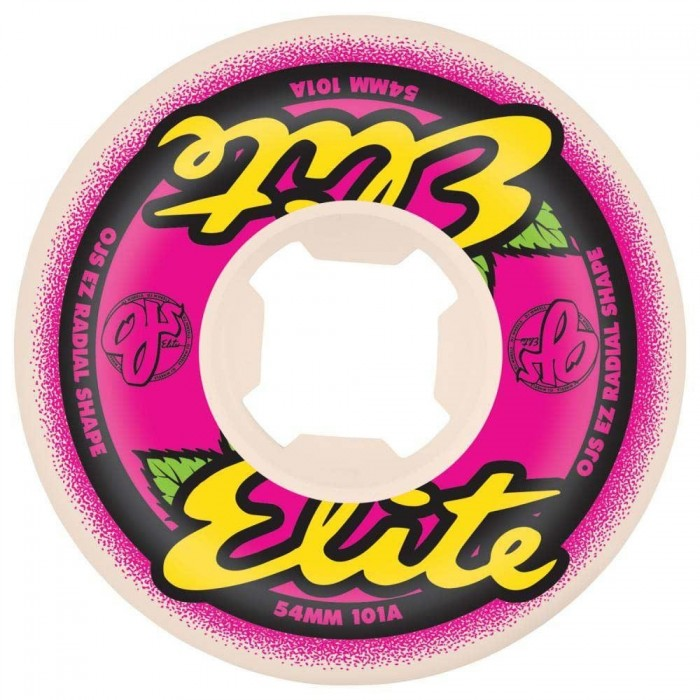 OJ Elite Wheels Elite 101a EZ Edge Skateboard Wheels White 54mm