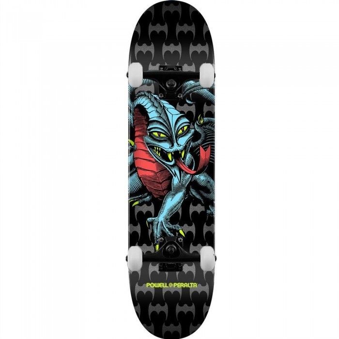 Powell Peralta PP Deck Cab Dragon One Off Shape Black Complete Skateboard 7.75