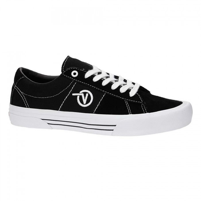 Vans Saddle Sid Pro Black White Skate Shoes