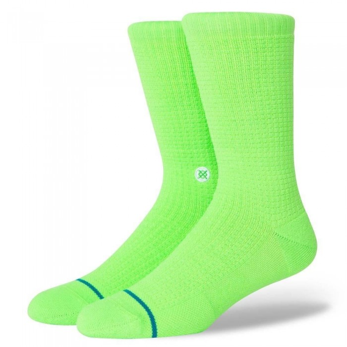 Stance Socks Icon Neon Green Large