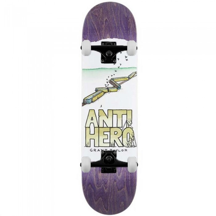 Anti Hero Grant Expresisons Complete Skateboard White 8.38""