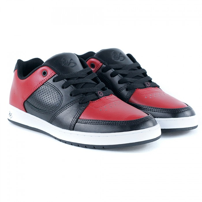 E's Footwear Accel Slim Red Black Skate Shoes
