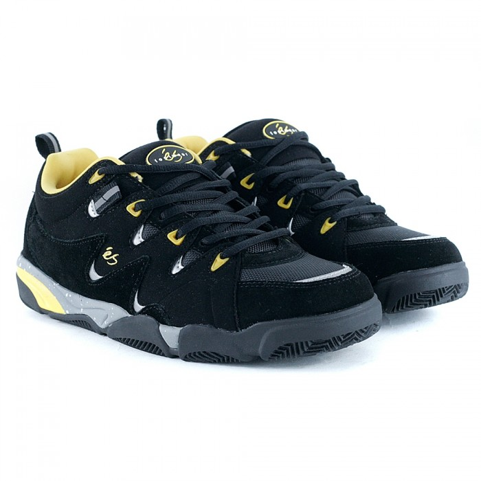E's Footwear Symbol Black Yellow Skate Shoes