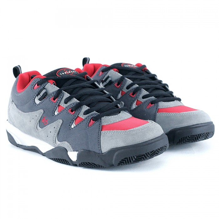 E's Footwear Symbol Grey Red Skate Shoes