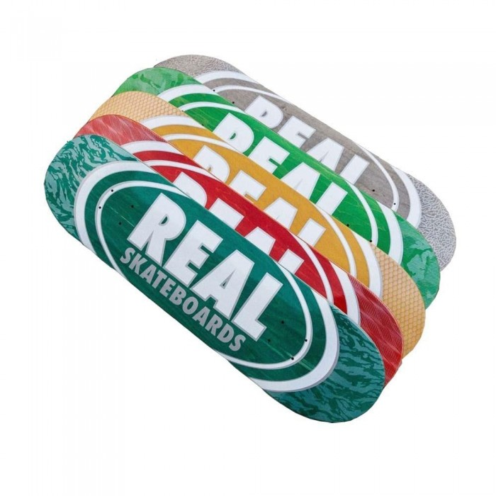 """Real Oval Patterns Team Series Skateboard Deck Assorted Colours 8.06"""""""