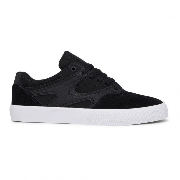 DC Shoe Co Kalis Vulc S Black Black White Skate Shoes