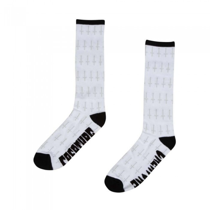 Creature Holy Crosses Crew Socks White One Size Adult