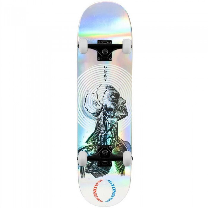 """Madness Clay Inside Out Impact Light Complete Skateboard Holographic 8.25"""""""